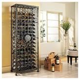 The Wine Enthusiast 138 Bottle Tie Grid Wine Rack Black - The Wine Enthusiasts