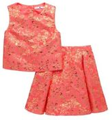 Very Premium Jacquard Top & Skirt Set