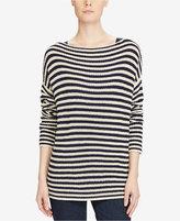 Lauren Ralph Lauren Striped Boat Neck Sweater