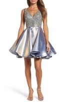 Mac Duggal Women's Bejeweled Mikado Party Dress