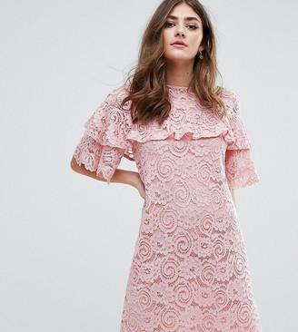 Miss Selfridge Ruffle Lace Shift Dress