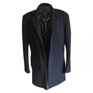 Azzaro Black Wool Coat for Women
