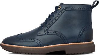 FitFlop Odyn Mens Leather Brogue Boots