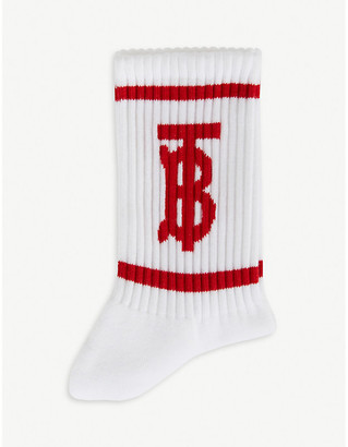 Burberry Logo-print cotton-blend socks
