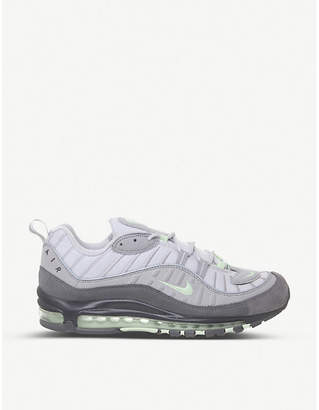 Nike 98 leather and mesh trainers