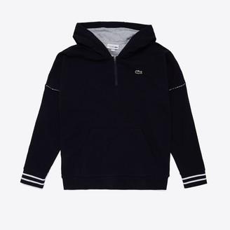 Lacoste Men's SPORT Contrast-Hood Fleece Sweatshirt