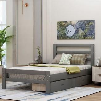Latitude Run Dederick Twin Low Profile Storage Standard Bed