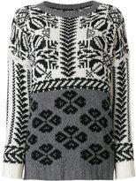 Twin-Set intarsia knit sweater