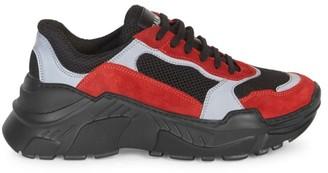 Balmain Jace Technical Mesh Low-Top Sneakers