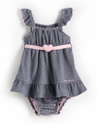 GUESS Newborn Girls 0-9 Months Cotton Two-Piece Dress Set
