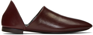 Lemaire Burgundy Babouche Loafers
