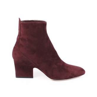 Jimmy Choo Red Suede Ankle boots