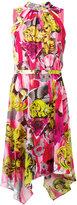 Versace belted high-low hem dress