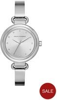 Armani Exchange Silver Tone Dial Stainless Steel Bracelet Ladies Watch
