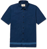 Folk - Indigo-dyed Cotton Shirt