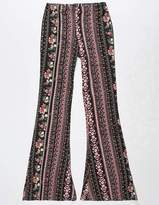 Full Tilt Vertical Rose Girls Flare Pants