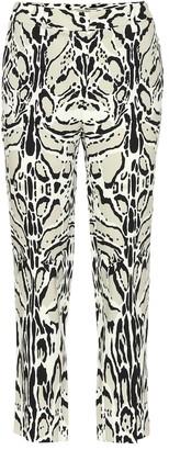 Roberto Cavalli Printed crepe pants