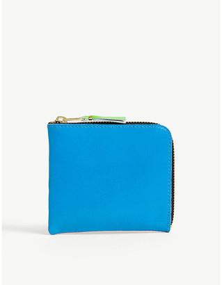 Comme des Garcons Fluorescent leather wallet