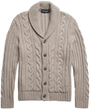 Banana Republic Cashmere Cable-Knit Cardigan Sweater