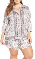 PJ Salvage Plus Size Women's Short Pajamas