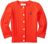 Ralph Lauren Cable Combed Cotton Cardigan