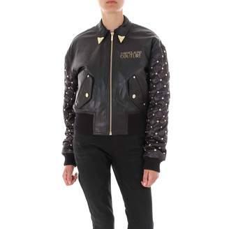 Versace Studded Sleeve Logo Jacket