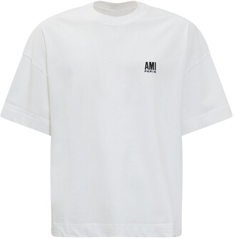 Ami Logo Embroidered T-Shirt