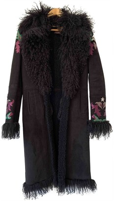 Roberto Cavalli Black Suede Coat for Women