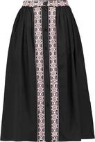 Temperley London Magda pleated embroidered midi skirt
