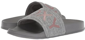 Roxy Slippy Textile (Grey) Women's Slide Shoes