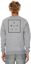 Swell Scribe Mens Fleece Crew Grey