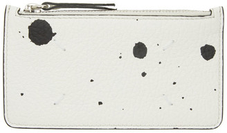 Maison Margiela White Paint Splatter Coin Pouch Long Card Holder
