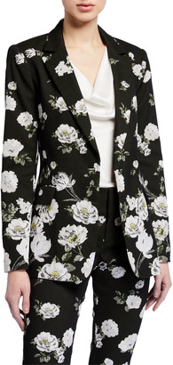 Alice + Olivia Macey Notch-Collar Fitted Blazer