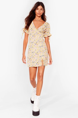 Nasty Gal Womens Let Your Love Grow Floral Mini Dress - White - 6