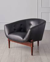 Global Views Mimi Leather Accent Chair
