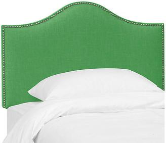 One Kings Lane Tallman Kids' Headboard - Green Linen - twin