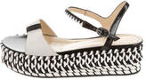 Pollini Colorblock Platform Wedge Sandals