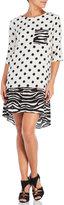 Alysi Mixed Print Hi-Low Dress