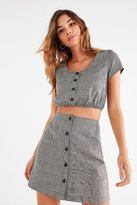 Urban Outfitters Plaid Button-Down Two-Piece Set
