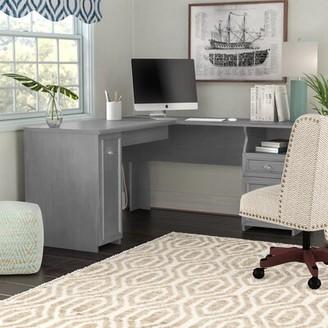 Three Posts Niles L-Shape Desk Finish: Cape Cod Gray