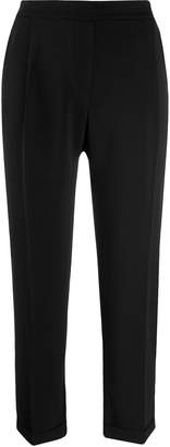 Guardaroba cropped high-waisted tailored trousers