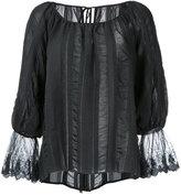 CITYSHOP embroidered blouse - women - Cotton/Nylon/Polyester/Cupro - One Size