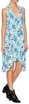 Rachel Zoe Flora V-Neck Side Godet Dress