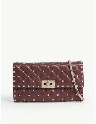 Valentino Rockstud Spike quilted leather cross-body bag