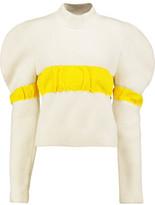 J.W.Anderson Ruffled Bouclé Turtleneck Sweater