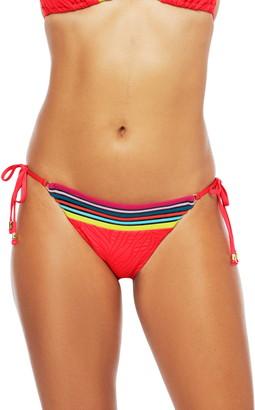 Trina Turk Stripe Trim Zebra Bikini Bottoms