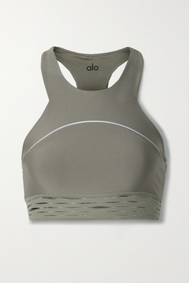 Alo Yoga Sequence Stretch Sports Bra - Army green