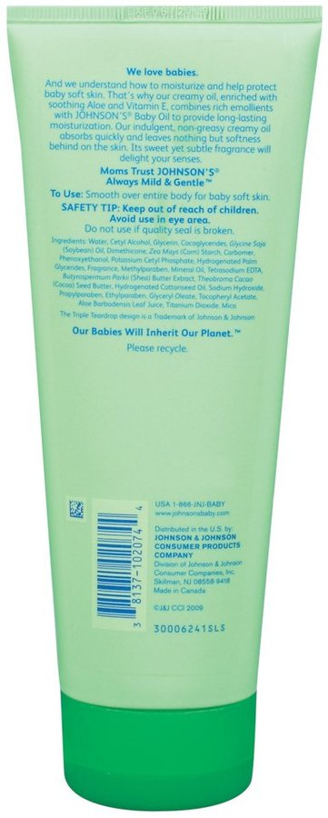 Johnson & Johnson Johnson's Creamy Aloe & Vitamin E - 8 oz