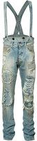 Faith Connexion distressed dungaree jeans - men - Cotton - 28