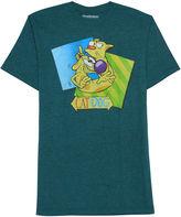 Novelty T-Shirts Catdog Short-Sleeve Crewneck Tee